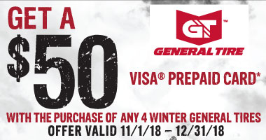 General Tires $50 Winter Tire Rebate